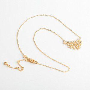 Henri Bendel Diamond Fan-shaped Tassel Necklace